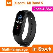 Xiaomi Miband 5 Smart Bracelet 4 Color AMOLED Screen Mi Band 5 Smartband Fitness Traker Wristband Sport Waterproof Smart Band