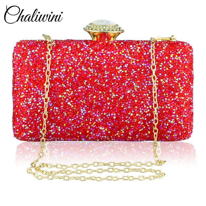 Women Glitter Sequin Handbag Shoulder Luxury Sparkling Party Crystal Evening  Clutch Bag Wallet Ladies Tote Purse Crossbody Bag