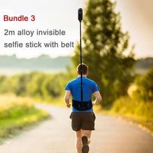 Insta360 one X accessoires ceinture ajustable à larrière avec bâton de selfie invisible 1.1m /2m pour insta360 evo/one
