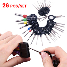 все цены на 26Pcs Car Terminal Removal Tool Wire Plug Connector Extractor Puller Release Pin Extractor Kit Auto Terminal Repair Hand Tools онлайн