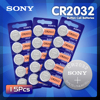 2020 nuovo 15 pz originale CR2032 DL2032 ECR2032 BR2032 2032 CR 2032 3V batteria a bottone a bottone al litio a lunga durata per orologi