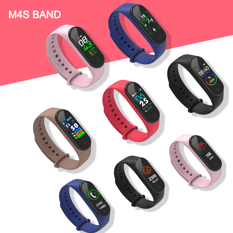 Fitness Bracelet with Blood Pressure/Blood Oxygen/Hear Rate Monitor/Waterproof Smart Band for huawei honor 5 xiaomi pk mi band 4