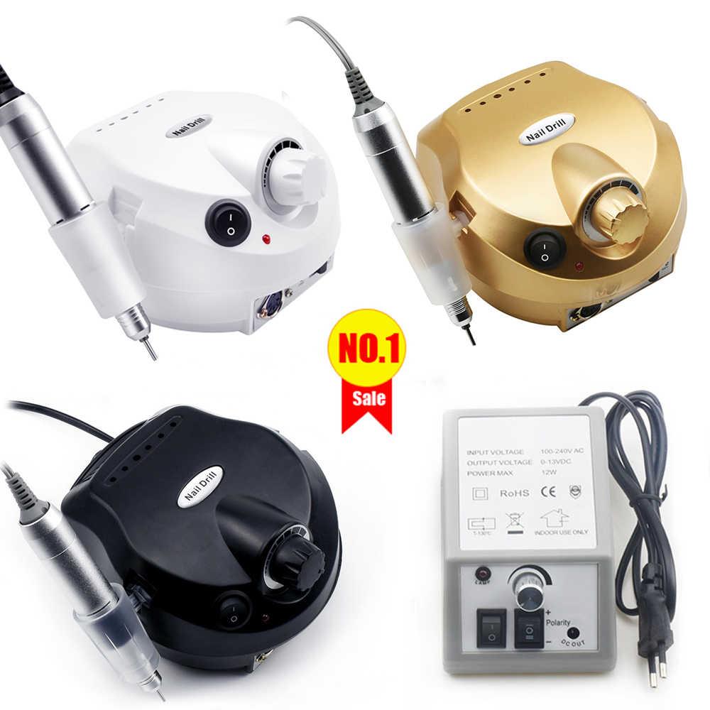 35000/20000 RPM Electric Kuku Bor Mesin Pemotong Set Untuk Manikur Kuku Tips Manikur Electric Kuku Pedikur File