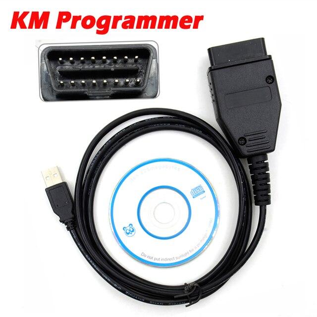 KM תכנית לפיאט קילומטראז מתכנת באמצעות OBD2 OBD 2 OBDII OBD כלי מד מרחק תיקון מחבר עבור עבור פיאט KM כלי