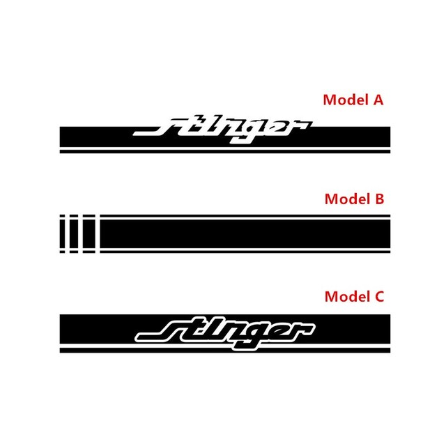 Vinyl Decals Exterior Accessories For-KIA Stinger Racing Sport Stripes Car Hood Bonnet Sticker Auto Engine Cover Decor 2