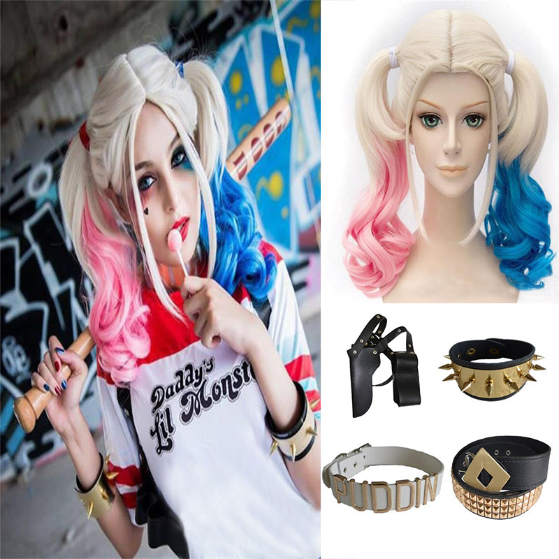 Harley Quinn Cosplay Costume 2019 Kids Girl Purim Coat Ladies Jacket Chamarras De Batman Para Mujer Set With Wig Gloves