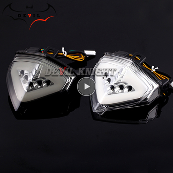 For HONDA CB1000R 2008-2013 CBR600F LED Blinker Tail Light Motorcycle Turn Signal Light Rear Brake Taillight CB 1000R CB1000 R