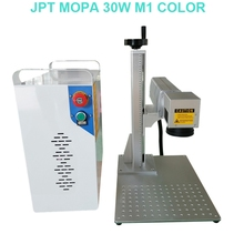 JPT MOPA fiber laser marking machine name plate printing machine for stainless steel colorful engraving