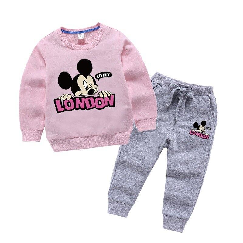 Baby girl clothes autumn costume for children 100% cotton cartoon children's suit tracksuit for children kids clothes boy suit 1