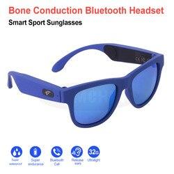 New Bone Conduction Earphones Sunglasses Wireless Headphones Smart Bluetooth Earphone Sport Headphone Stereo Music