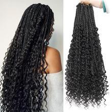 Богемные косички для волос, синтетические косички для вязания, 20 дюймов, плетеные волосы для наращивания в стиле бохо