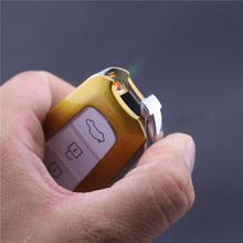 Креативный Автомобильный ключ надувная металлическая зажигалка