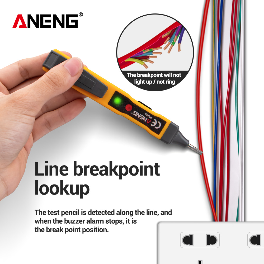 ANENG VD806 AC/DC Voltage Tester Vape Pen Battery Current Non Contact Voltage Detector Electrical Circuit Tester Led Pencils