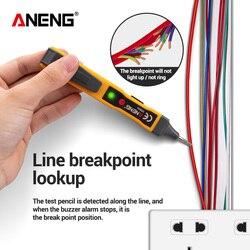 Aneng testador de voltagem vd806 ac/dc, caneta de vape, bateria, detector de corrente, sem contato, testador de circuito elétrico, led, lápis
