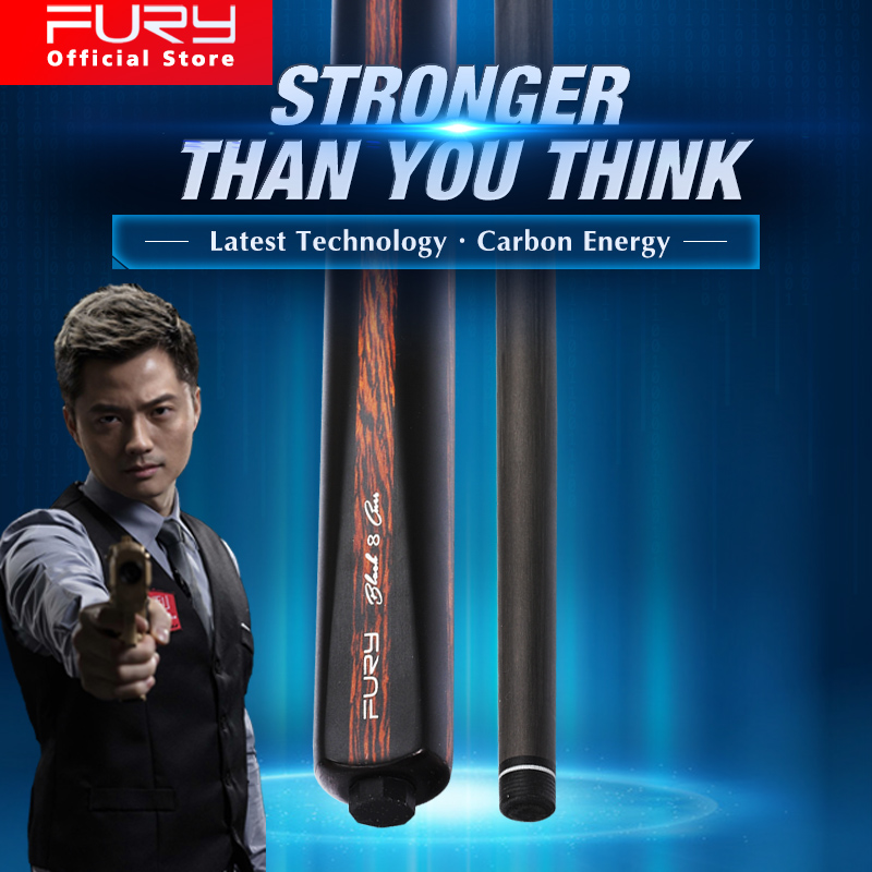 FURY Official Store CFC Snooker Cue 11mm KAMUI Tip Carbon Fiber Technology Shaft Billiared Cue Carbon Technologia For Black 8