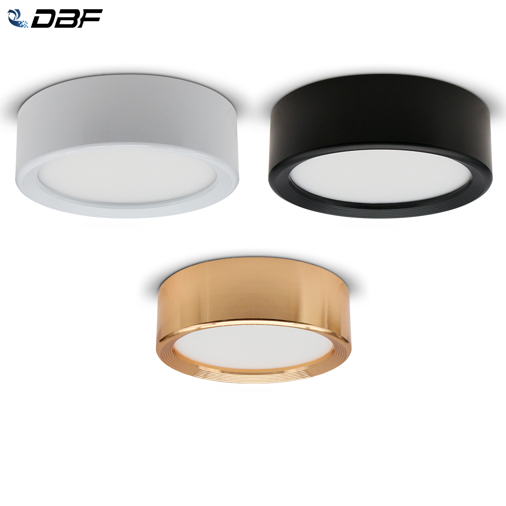 [DBF]Ultra-thin LED Surface Mount Ceiling Lamp 3W 5W 7W 9W Black/White/Gold Housing Ceiling Spot Lamp For Home Living Room Decor