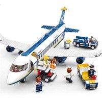 Bloques de construcción para niños, juguete de ladrillos para armar avión Airbus de ciudad, ideal para regalo, 463 Uds.