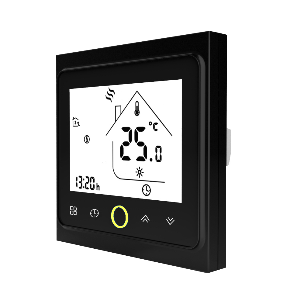 Thermostat Modbus Communication Thermostat BHT-002GALN Programmable 3A Water Heating LCD Touch Screen Temperature Controller