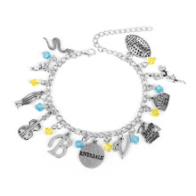 Riverdale Pop's Chock'lit Shoppe Logo Charm Bracelets Fashion Silver Metal Pendant Bracelets Bangles For Men Women Gifts Jewelry(China)