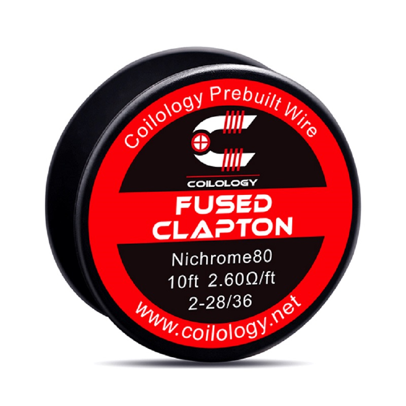 Coilology Heat Wire Fused Clapton NI80 Coil 2.6ohm  2-28/36 10 Feet For Rta Tank Vape Accessory