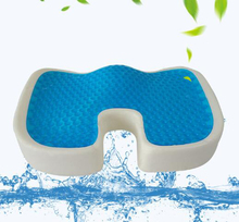 Flexible 3D ice gel cooling pad Seat Cushion slow rebound memory cotton office car dining chair summer breathable cushion