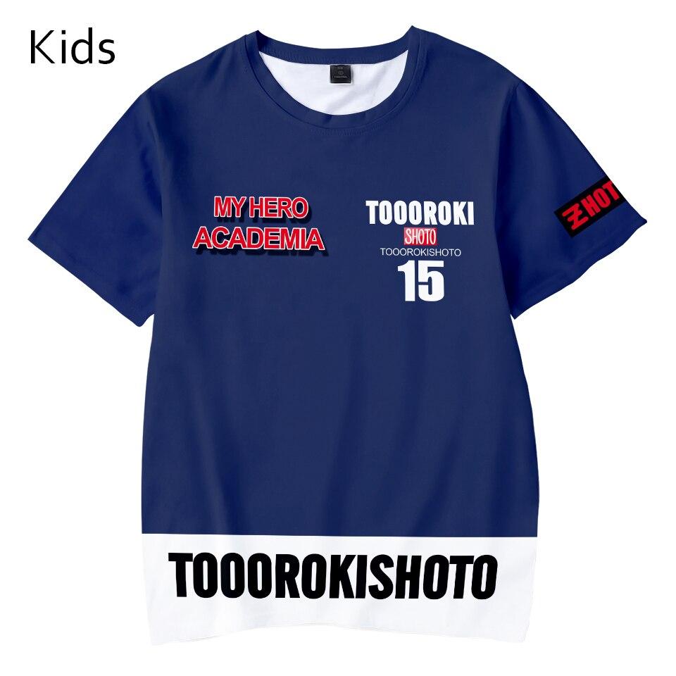Kid//Youth My He-ro ACA-Dem-Ia T-Shirts 3D Short Sleeve Tees for Girls Boys