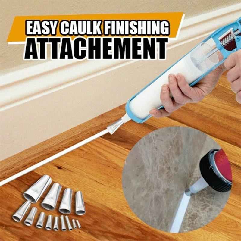 14Pcs Caulking Finisher Applicator Stainless Steel Sealant Finishing Tool Kit Kitchen Bathroom Window Sink Joint Caulking Nozzle