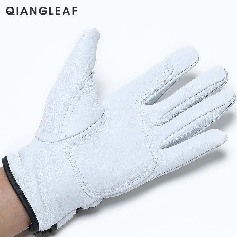 Image 3 - QIANGLEAF Brand Plus Cotton Warm Safety Working Gloves High Quality Mechanic Autumn Winter Mechanism Work Gloves For Workers H73work glovesmechanic work glovessafety work gloves -