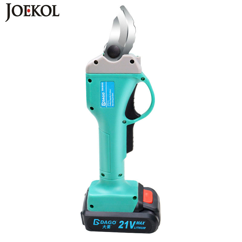 21V Wireless Electric Rechargeable Scissors Pruning Shears Tree Garden Tool Branches Pruning Tools With 1 Or 2 Li-ion Battery