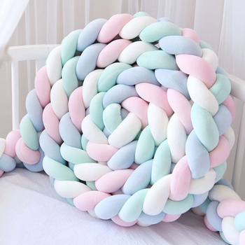 CHaoximiao 4 Braid Pillow Baby Bed Bumper Knot Crib Newborn Bed Bumper Long Knotted Infant Room Decor Baby Room Decor 1/2.2/3/4M недорого