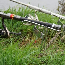 1 New 2.1 M / 2.4 2.7 Folding Automatic Double Spring Fishing Rod Bracket Stainless Steel