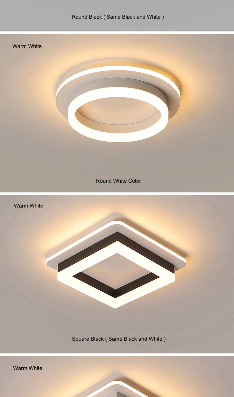 H56972556b10d463e9e8a64598cb7b3bb2 Modern Led Ceiling Lights For Hallway Porch Balcony Bedroom Living Room Surface Mounted Square/Round LED Ceiling Lamp