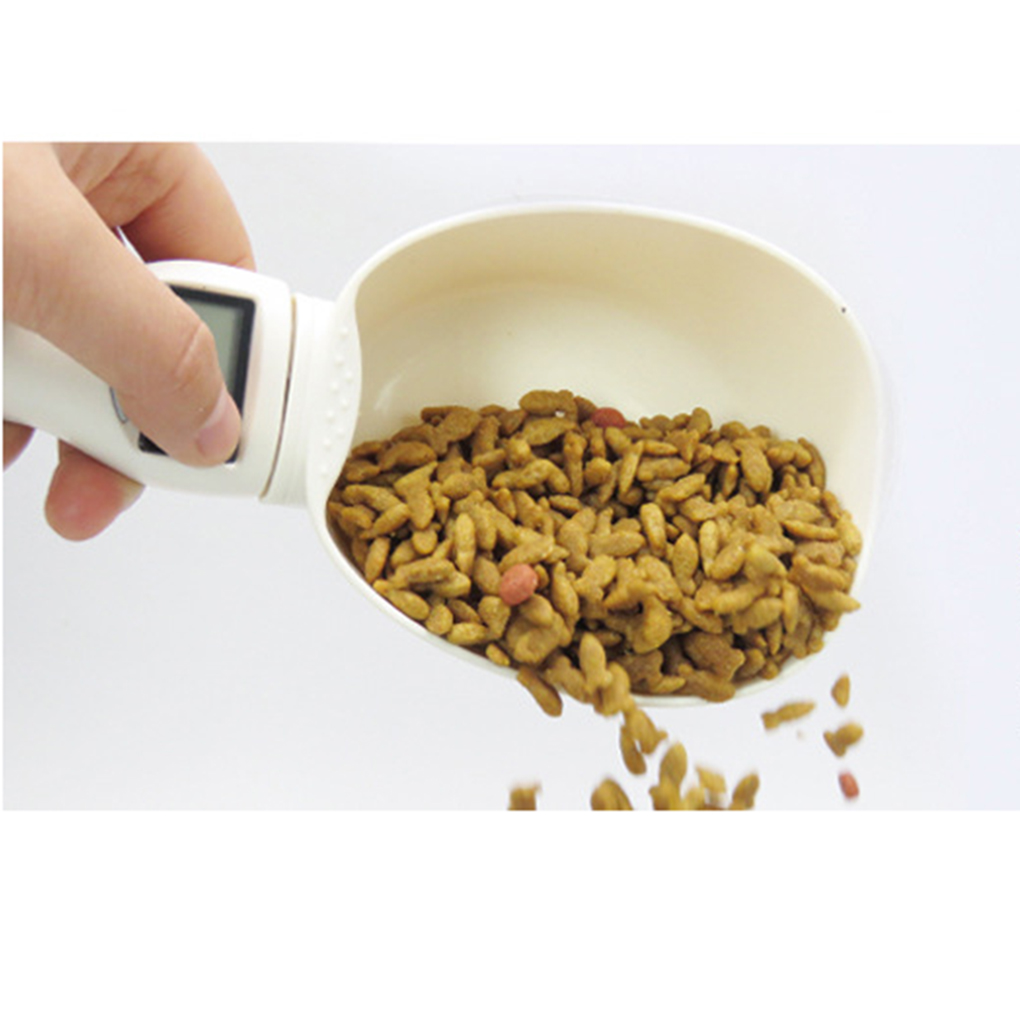FangNymph High Quality Pets Food Scoop Precise Food Measuring Cup Detachable Food Scooper Digital Scale Spoon Feeding Supplies