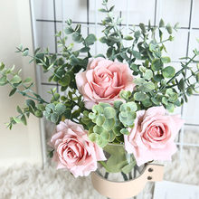 Rose Pflanze Bonsai Künstliche Blume Hochzeit Braut Bouquet sztuczne dekoracje kunstbloemen voor buiten zauberstab dekoration