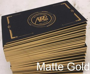 Image 3 - Vàng giấy bạc dập tên thẻ tự do thiết kế tùy chỉnh chữ kinh doanh thẻ in chất lượng cao dày Đen giấy in