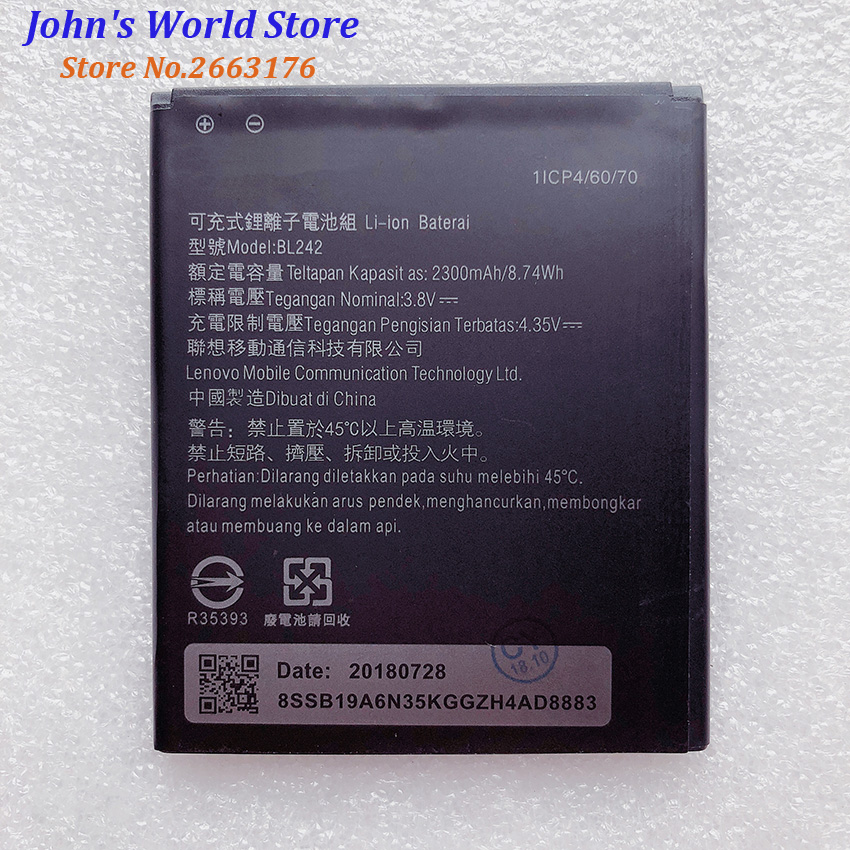 For <font><b>Lenovo</b></font> A6010 Battery High Quality 2300mAh <font><b>BL242</b></font> Back up Battery Replacement For <font><b>Lenovo</b></font> A6010 Plus Mobile Phone image