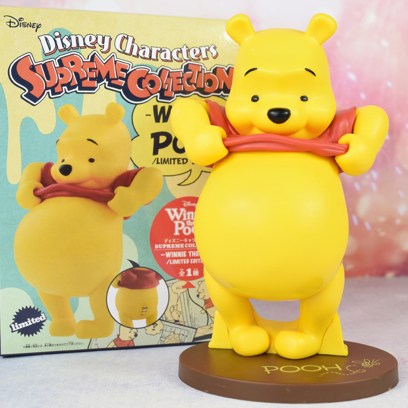 Genuine movie figures Disney toys Winnie the Pooh limited collection cute Figurine model dolls with box 22.5CM