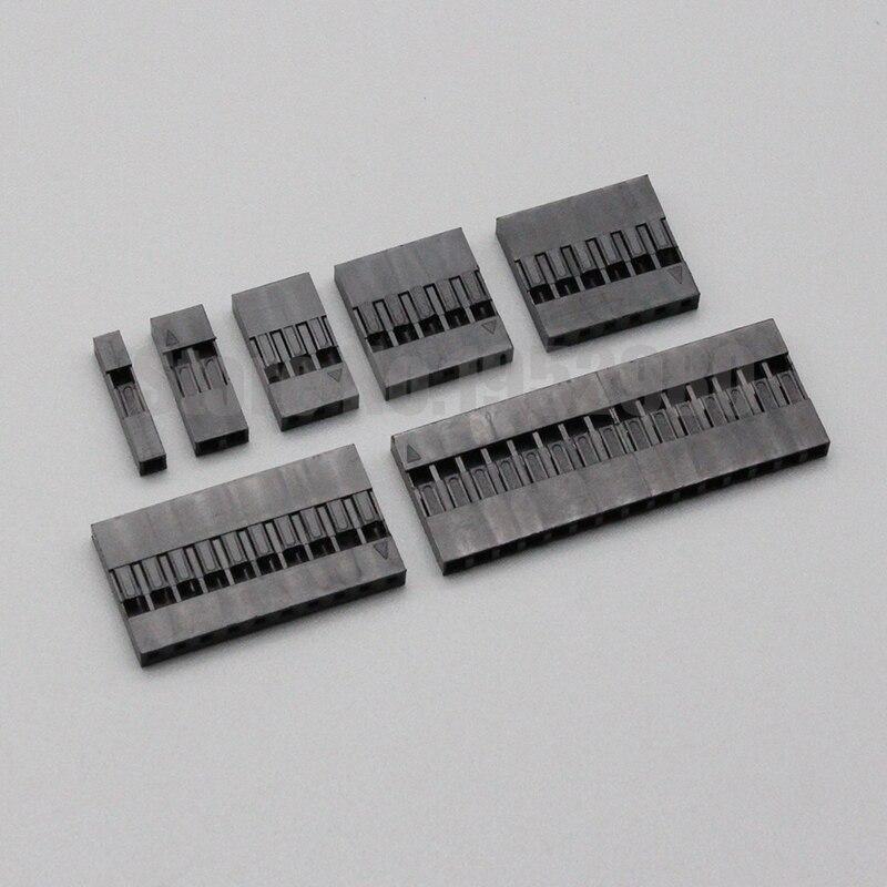 50 шт. 2,54 мм Dupont разъем 2,54 мм Однорядная Пластик корпус для подключения 1P 2P 3P 4 5 6P 7P 8 9P 10P 11 12P 20Pin