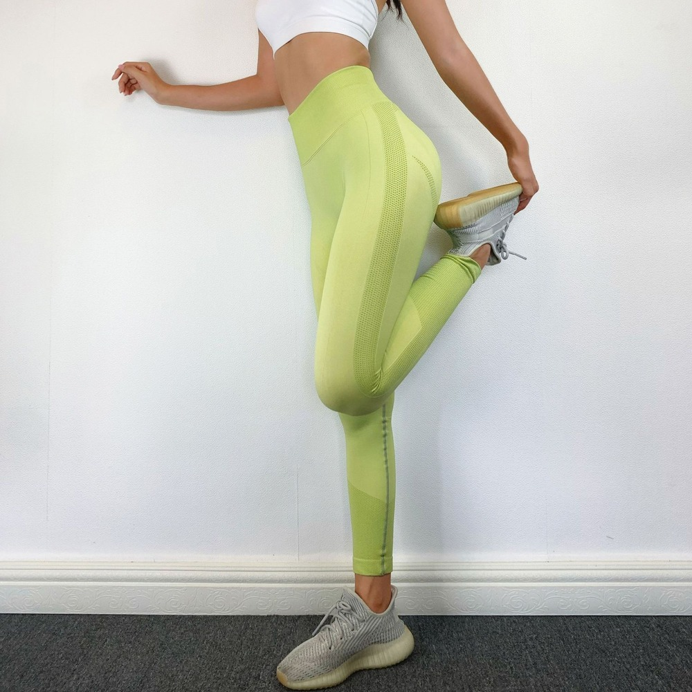 13%Spandex Fitness Leggings High Waist Sexy Pants for Women Bubble Butt Seamless Leggging Push Up  2020 4