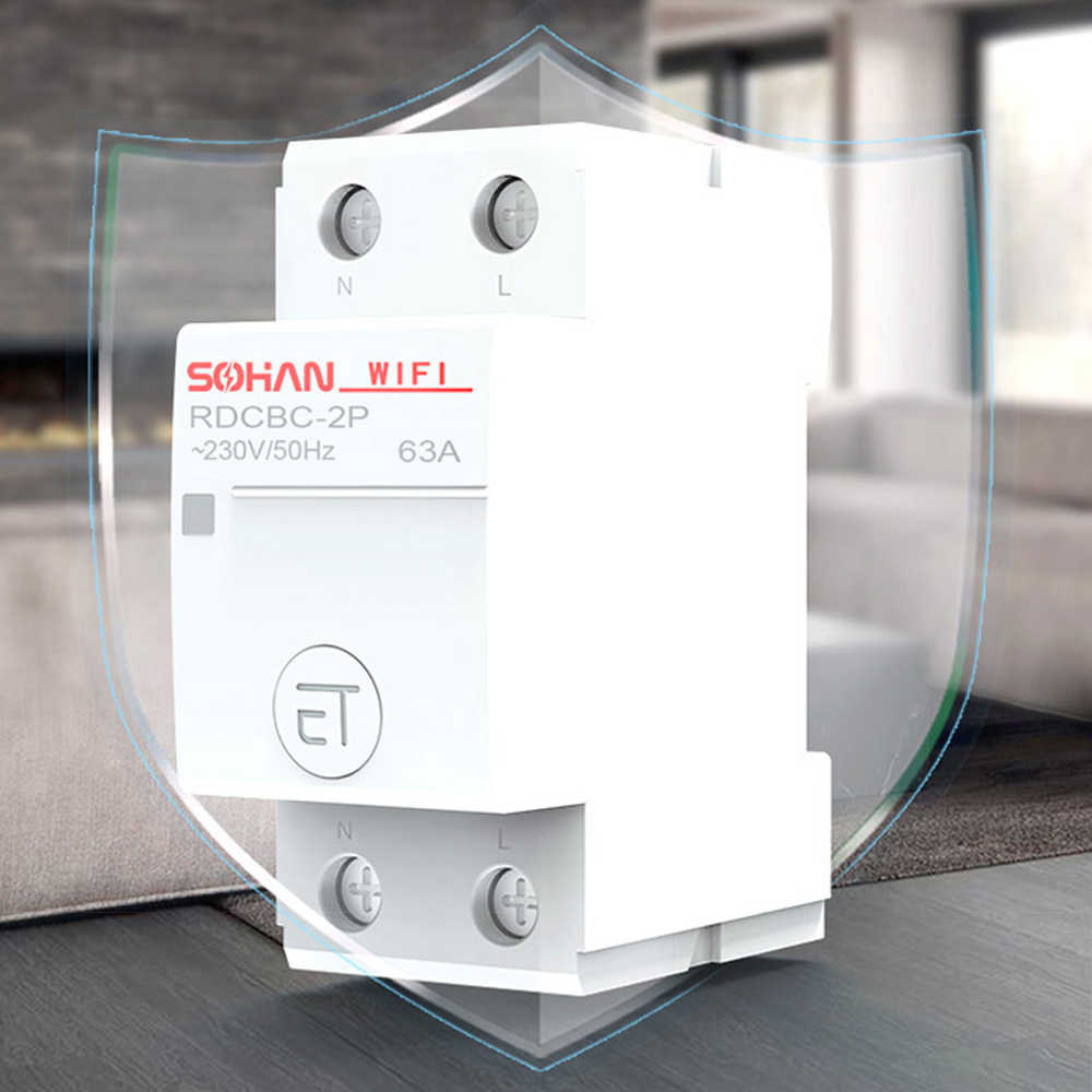 Household Intelligent WiFi Circuit Breaker Remote Control by APP Voice Control Scenario control and adjustable light