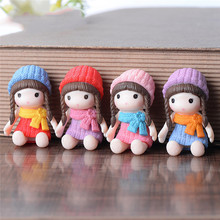 4PCS Pretty Pure Girl Miniature Figurine Bonsai Decorative Mini Fairy Garden People Statue Moss Ornaments Resin Craft