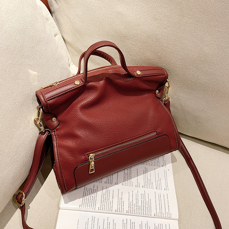 Bags Bag Women's 2019 New Style Korean-style Fashion Leisure Bag PU Handbag Soft Leather Shoulder Bag WOMEN'S Messenger Bag