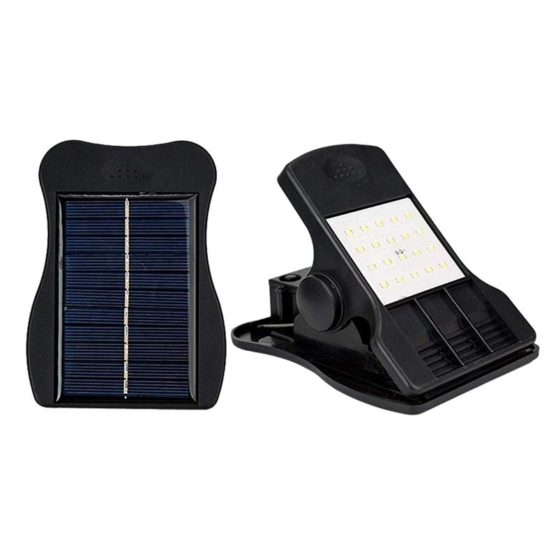 20 Led Solar Lights Outdoor Mini Solar Clip Light Waterproof Solar Wall Light For Patio Deck Garden Garage