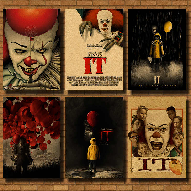 Stephen King's Het Woninginrichting decoratie Kraft Classic horror Movie Poster Tekening kern muurstickers