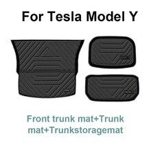 Voor Tesla Model Y Vuilwerend Pad Interieur Accessoires Kussen Auto Gewijd Bagage Mat