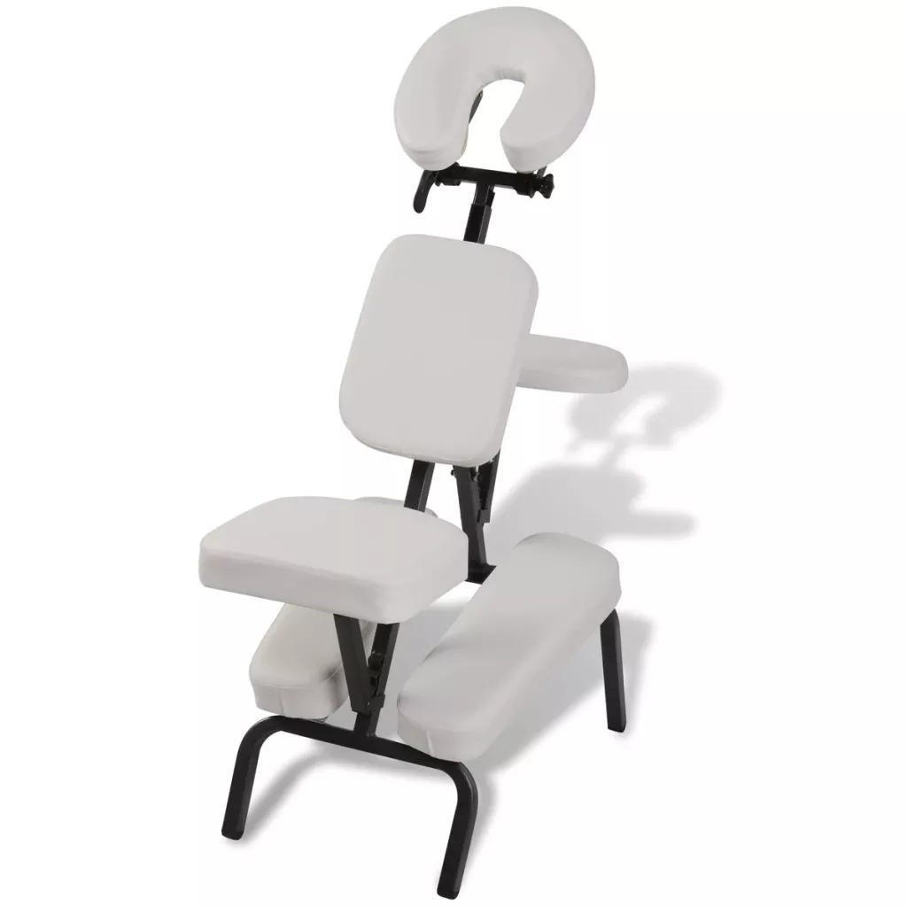 VidaXL 110102 Folding And Portable Massage Chair White