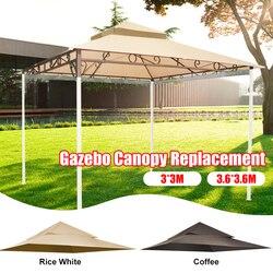Exterior impermeable Gazebo Canopy reemplazo superior cubierta de 2 niveles para marco de Madaga de alta calidad adecuado para eventos en el patio trasero