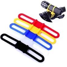 Light-Flashlight Ribbon-Mount-Holder Band Phone-Strap Bike Bicycle Silicone MTB Tie