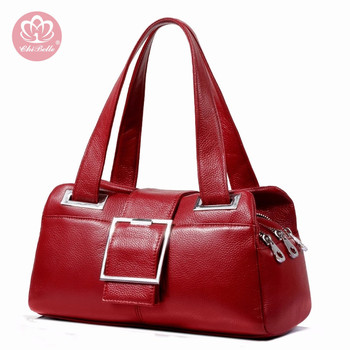 New European and American Cow Leather Messenger Bag Lady Fashionable Versatile Large Capaticy Pillow Bag For Middle-aged Women