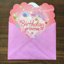 FP030 24PC/Lot Envelop Shape Party Invitation Card Children Girl Birthday/Festival Supplies